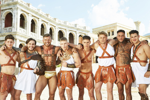 This image and the information contained herein is strictly embargoed until 20.00 Monday 4th September 2017 From Electric Ray Bromans on ITV2 Pictured: The Bromans. Tom, Richard, Dino, Brandon, Glenn, Jordan, Tian and Kai. This photograph is (C) Electric Ray and can only be reproduced for editorial purposes directly in connection with the programme or event mentioned above, or ITV plc. Once made available by ITV plc Picture Desk, this photograph can be reproduced once only up until the transmission [TX] date and no reproduction fee will be charged. Any subsequent usage may incur a fee. This photograph must not be manipulated [excluding basic cropping] in a manner which alters the visual appearance of the person photographed deemed detrimental or inappropriate by ITV plc Picture Desk.  This photograph must not be syndicated to any other company, publication or website, or permanently archived, without the express written permission of ITV Plc Picture Desk. Full Terms and conditions are available on the website www.itvpictures.co.uk. For further information please contact: james.hilder@itv.com / 0207 157 3052